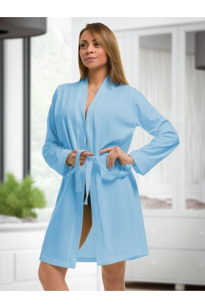 2107 Cotton Robe Light Blue S-6XL 8-24  ***Discontinued***