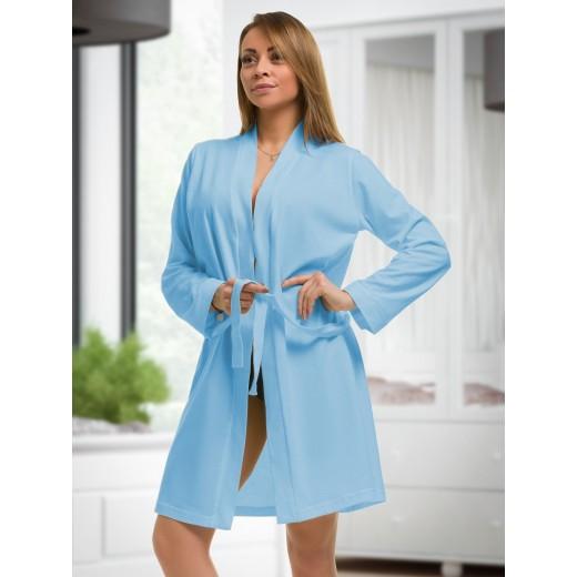 plus size-2107 Cotton Robe Light Blue S-6XL 8-24 New Arrivals-Nine X