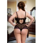plus size-089  Beige Mesh Body S M L XL 2XL  Bodysuit Bodies-Nine X