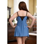 plus size-077 Nine X Sexy Nightdress Plus Size Babydoll S - 7XL Lingerie Mint Babydolls-Nine X