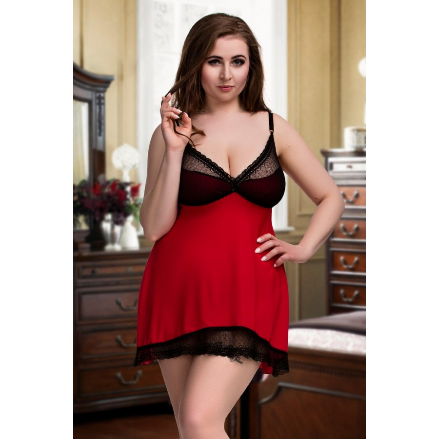 6a8ff7121e2 077 Nine X Sexy Nightdress Plus Size Babydoll S - 7XL Lingerie Red Babydolls
