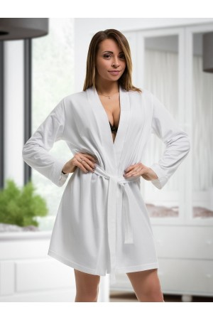 2107 Cotton Robe White S-6XL 8-24
