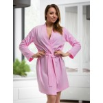 plus size-2107 Cotton Robe Baby Pink S-6XL 8-24 New Arrivals-Nine X