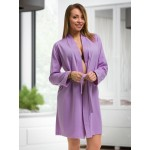 plus size-2107 Cotton Robe Lilac S-6XL 8-24 New Arrivals-Nine X