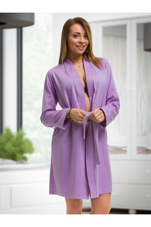 2107 Cotton Robe Lilac S-6XL 8-24  ***Discontinued***