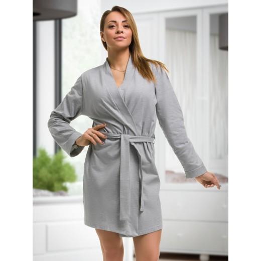plus size-2107 Cotton Robe Grey S-6XL 8-24 New Arrivals-Nine X