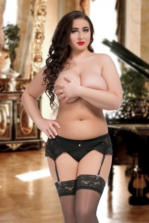 058 Garter belt Black S-8XL