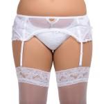 plus size-058 Garter belt White S-8XL Garter Belts-Nine X