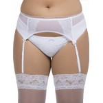 plus size-061 Garter belt White S-8XL Garter Belts-Nine X