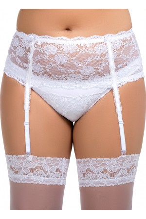 055 Garter belt White S-8XL