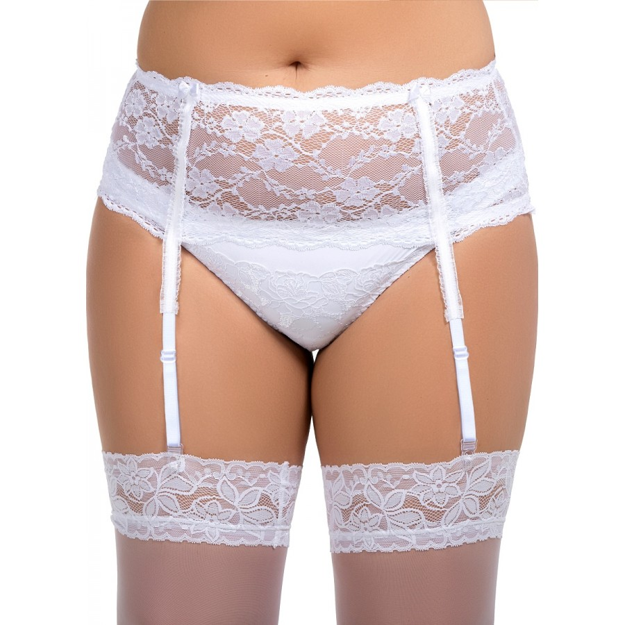 55159e25bef plus size-055 Garter belt White S-8XL Garter Belts-Nine X
