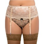 plus size-055 Garter belt Beige S-8XL Garter Belts-Nine X