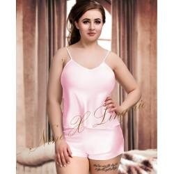 082 Plus Size Satin Cami Set S-6XL 8-24 Baby Pink