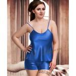 plus size-082 Plus Size Satin Cami Set S-6XL 8-24 Blue Cami Sets-Nine X