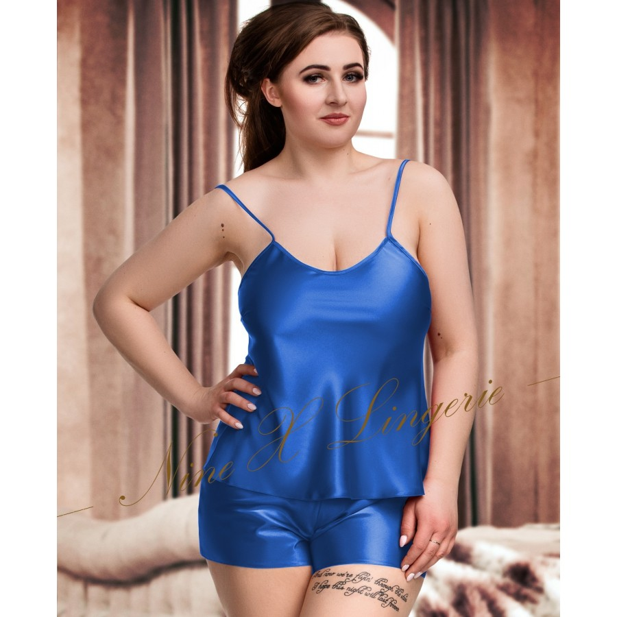 f879dbd854 082 Plus Size Satin Cami Set S-6XL 8-24 Blue Cami Sets
