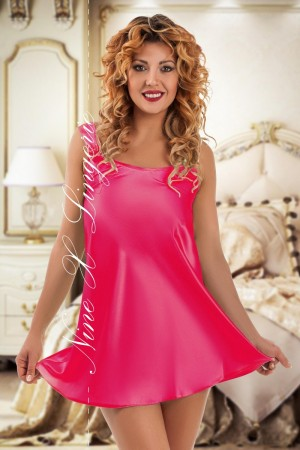 052 Sleek satin pink chemise S-6XL