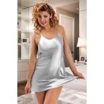 plus size-053 Silky Silver satin chemise S-6XL Babydolls-Nine X