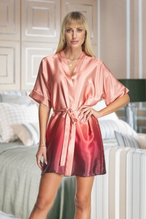 2135 Cassis Ombre Satin Robe