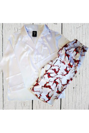 Pattern no 7 Nine X Satin Men's Christmas Pyjama