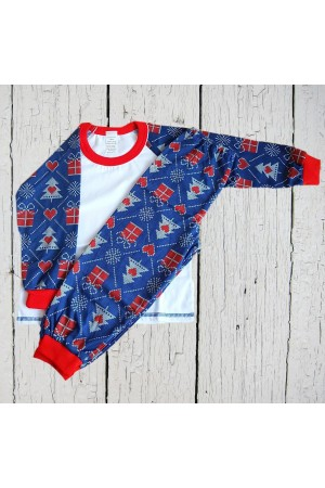 SALE!!! Pattern no 3 Nine X 100% Cotton Children Christmas Pyjama