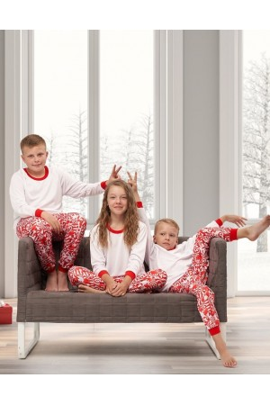 Discontinued Pattern no 20 Nine X ThermoActive 100% Polyester Children Christmas Pyjama Set