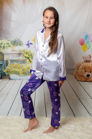 107/3 Halloween Boys Girls Kids Satin Long Sleeve Pyjamas pj's Nightwear