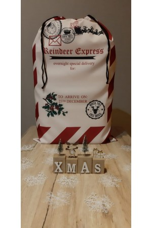 Nine X Xmas Sack Pattern No 1 100% polyester Limited stock available!