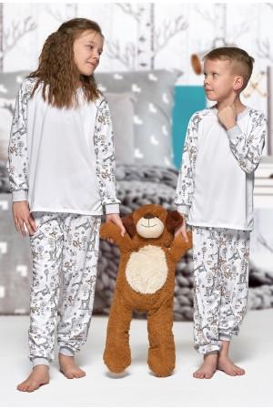 Nine X Kids Monkey ThermoActive 100% Polyester Children Pj's Set