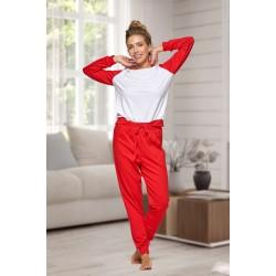 130 Women's Red/white Nine X 100% Cotton Pyjama Set