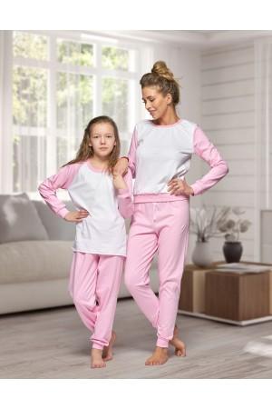 130 Women's Baby pink/white Nine X 100% Cotton Pyjama Set
