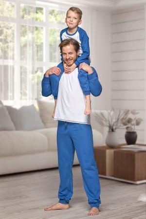 130 Men's Navy/white Nine X 100% Cotton Pyjama Set