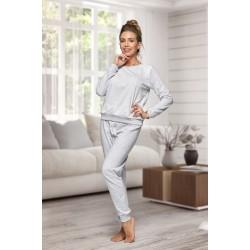 130 Women's Grey/white Nine X 100% Cotton Pyjama Set