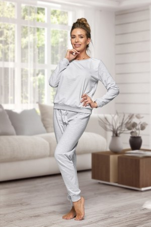 130 Women's Grey/white Nine X 100% Cotton Pyjama Set