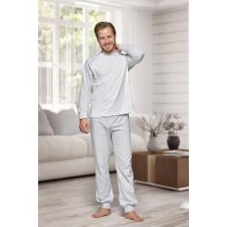 130 Men's Grey/white Nine X 100% Cotton Pyjama Set