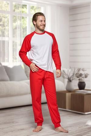 130 Men's Red/white Nine X 100% Cotton Pyjama Set
