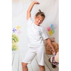 140 Kids white short pyjama set 100% Cotton