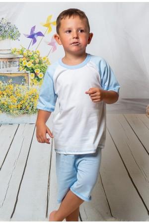 140 light blue/white short pyjama set 100% Cotton