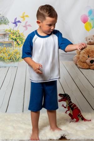 140 Kids navy/white short pyjama set 100% Cotton