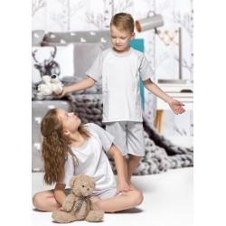 140 Kids grey/white short pyjama set 100% Cotton