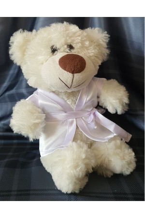"511 Nine X dressing gown for ""little bridesmaid teddies""  White"