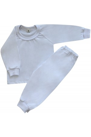 130 white long pyjama set 100% Cotton