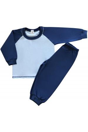 130 navy/blue long pyjama set 100% Cotton