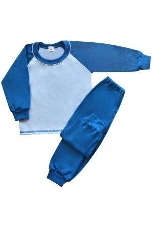 130 blue long pyjama set 100% Cotton