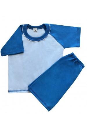 140 blue short pyjama set 100% Cotton