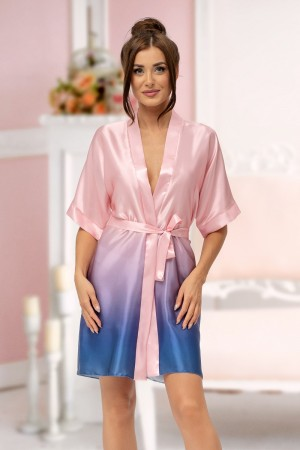 2132 blue/pink Ombre Dressing Gown Size S-2XL