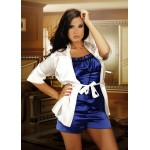 plus size-008 Satin Cami Set Blue S - 6XL Cami Sets-Nine X