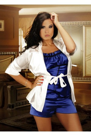 008 Satin Cami Set Blue S - 6XL