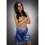 plus size-014 French Blue Silky Satin Shorts S-3XL Briefs / Knickers-Nine X
