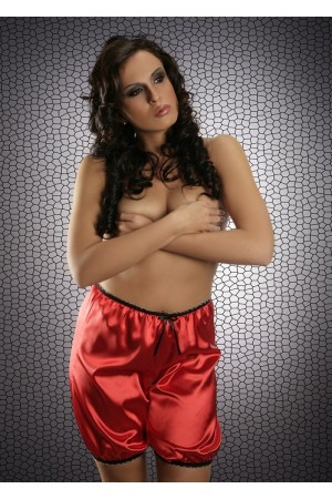 014 French Red Silky Satin Shorts S-3XL