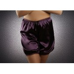 plus size-014 French Purple Silky Satin Shorts S-3XL Briefs / Knickers-Nine X